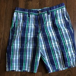 Men's 33w 14th & Union blue and green plaid short